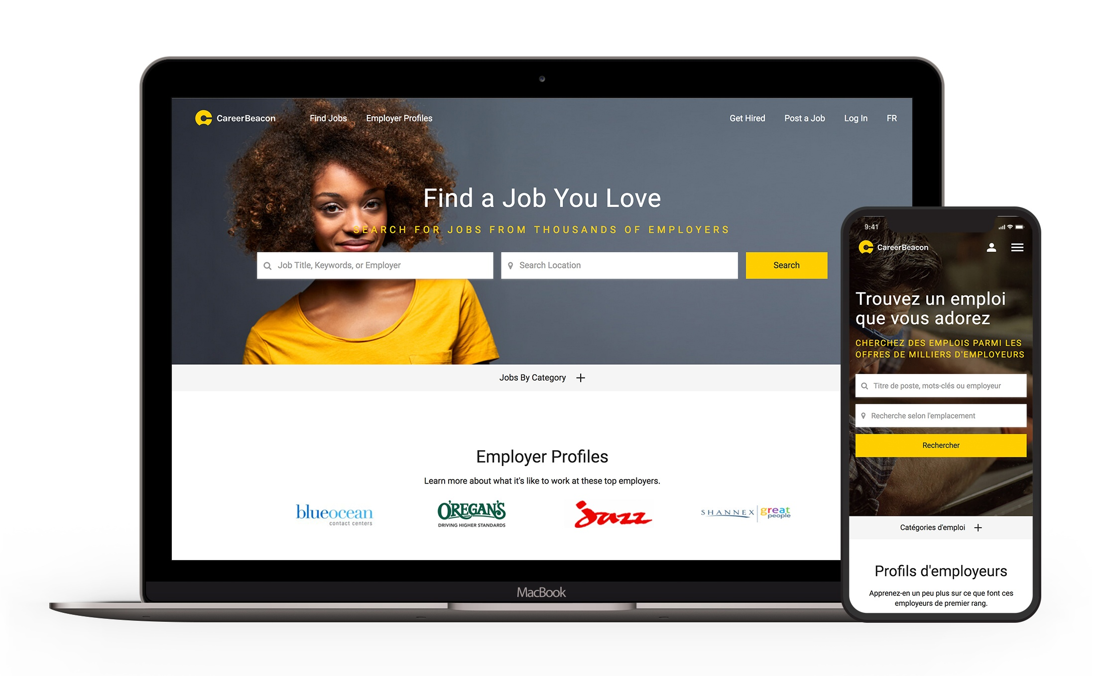 CareerBeacon homepage