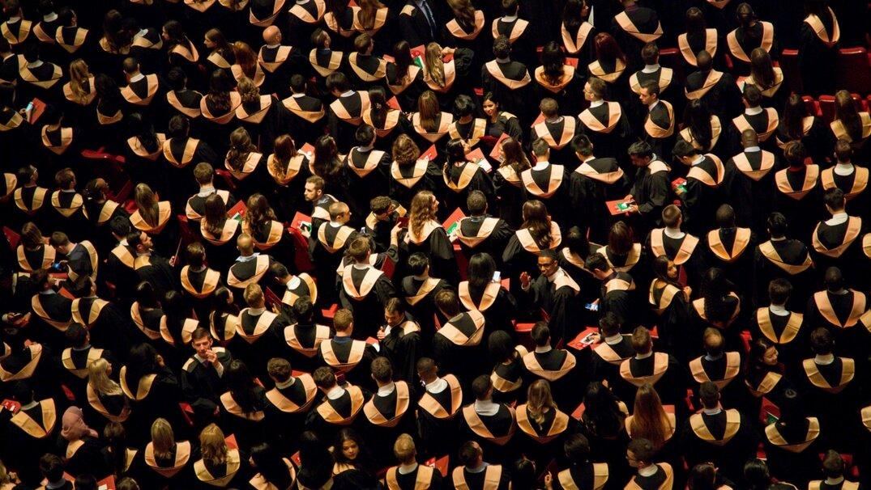 Room full of Liberal Arts graduates
